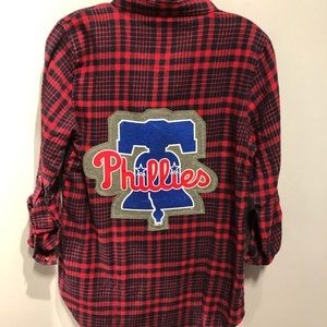 NWT Phillies Flannel Shirt Size M